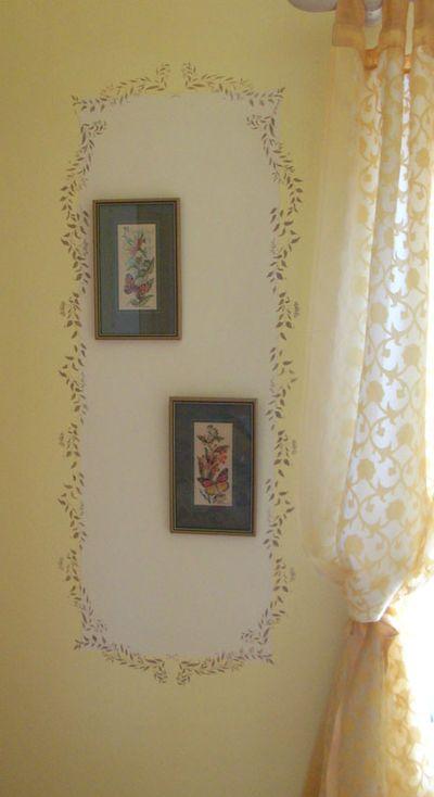 Mum's room leaf stencil 4587