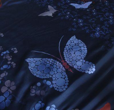 3 stencilled butterfly on silk em337