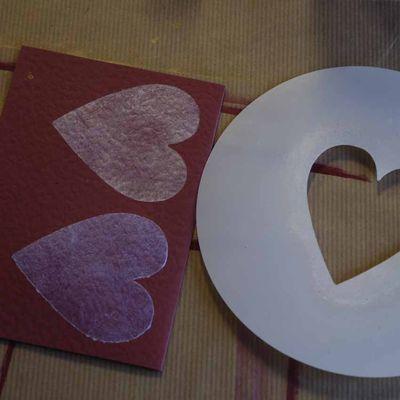 4 stencilled hearts 5497