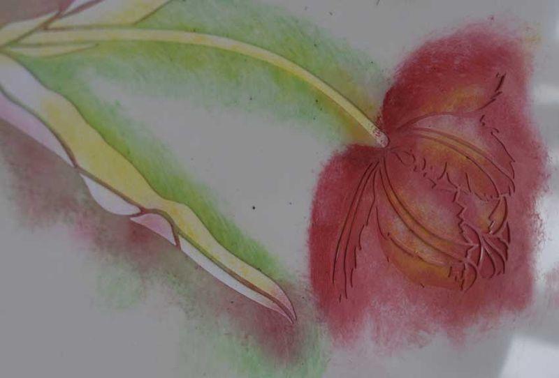 2 tulip stencil red _5846
