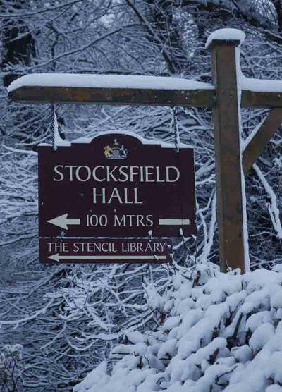 Stocksfield hall sign 4255