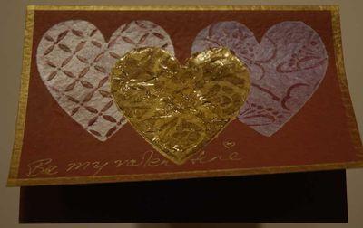 Stencilleds valentine card 5543