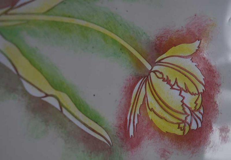 1 tulip stencil yellow 5840