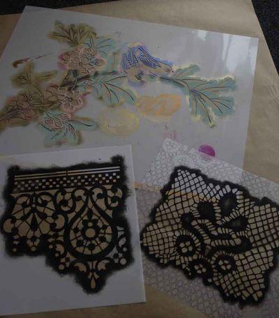 Lace stencils 11