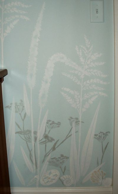 Grass and fennel stencil chris smith