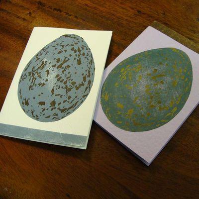 Stencilled egg cards em43