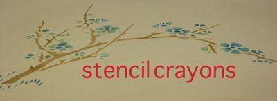 Ja cherry blossom in crayon