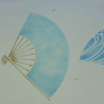 4 fan stencil first overlay 830