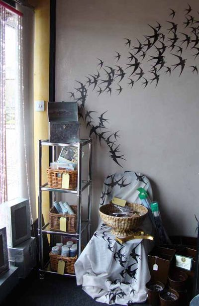 Stencil libary shop swallow