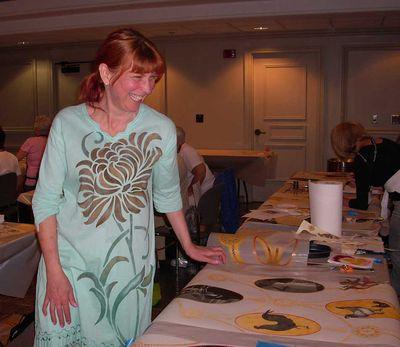 Helen in Print Room class06