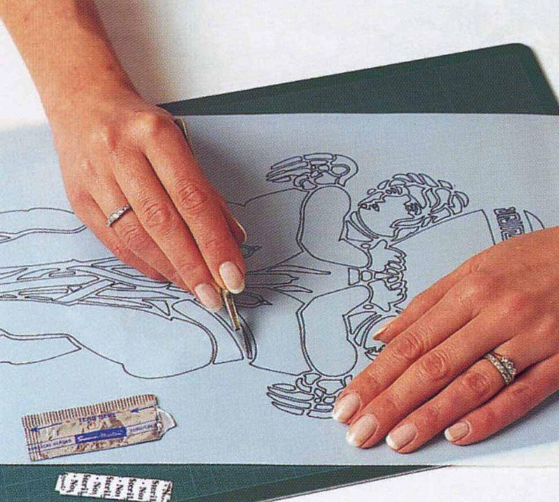 Cut stencil scalpel stencilled home jpg