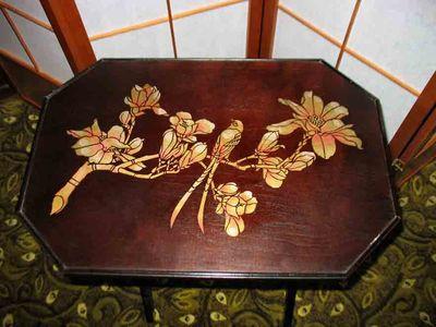 JA bird & blossom jef Raum table