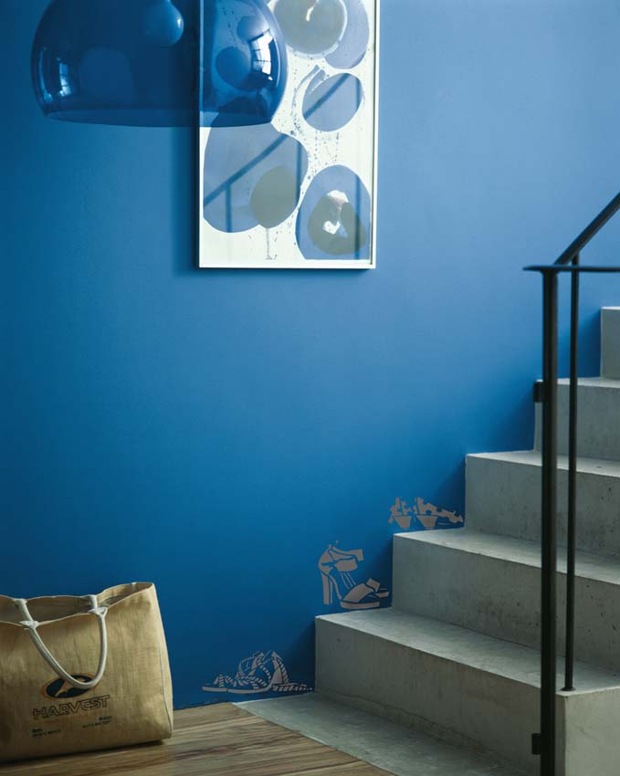 Shoe stencil STAIRS BLUE