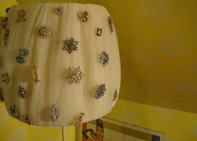 Brooch lampshade
