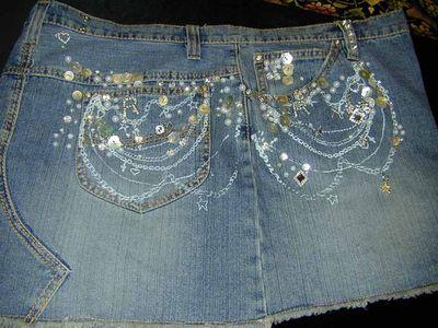 Bling skirt back & side