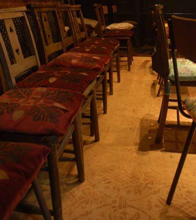Stencilled cushions. 11