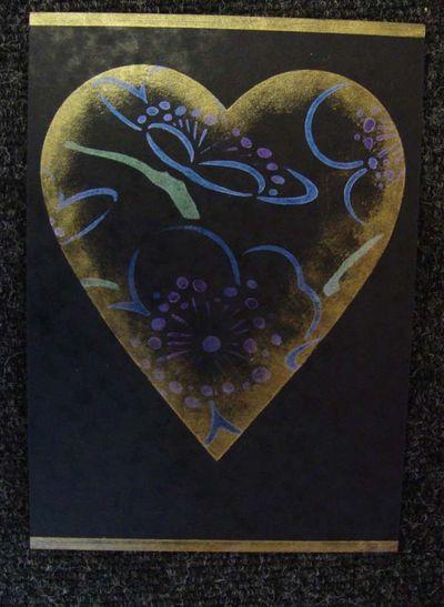 Nc cherry blossom heart card