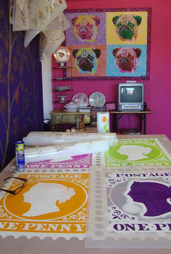 Stencilling stamps 37
