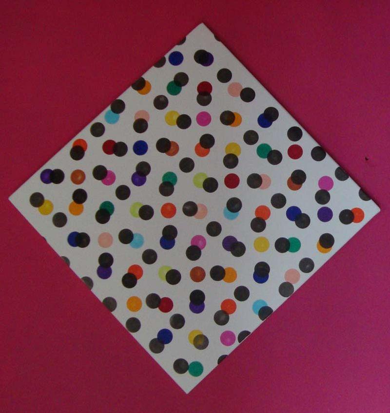Helen Morris wonky dot square59