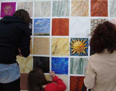 Salon mosaic mural 551