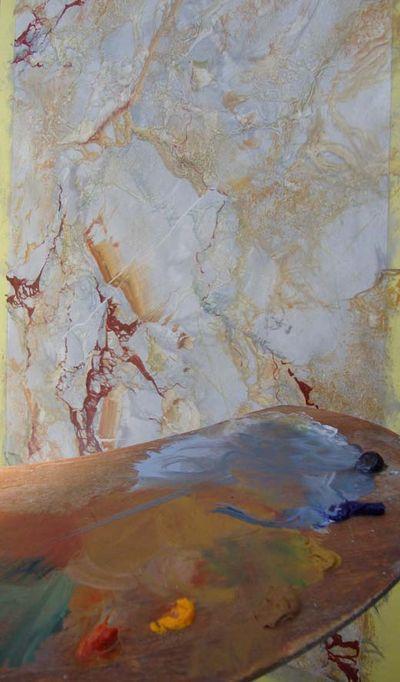Salon painted marble 459