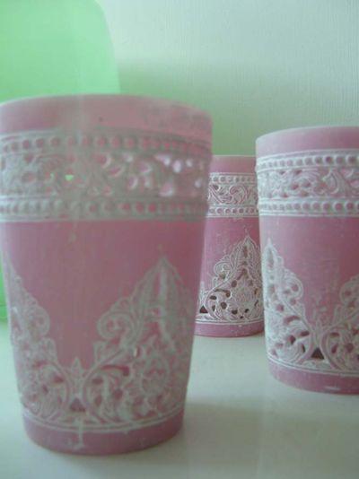 Pink Ilva tea lights 77