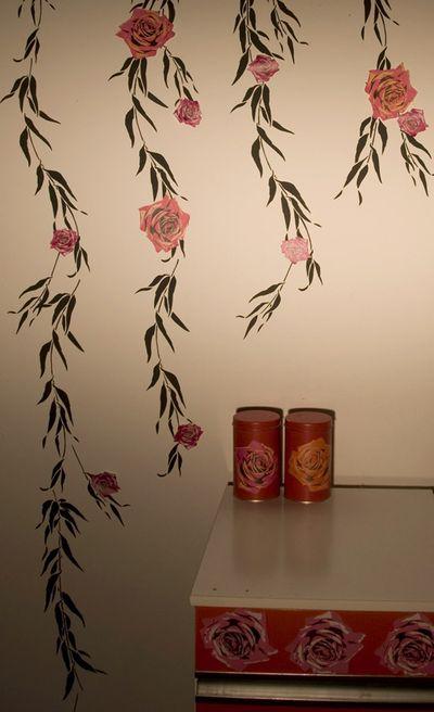 Jet set rose stencil86