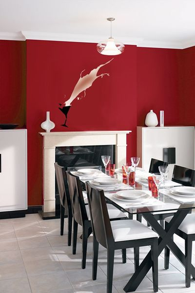 RED glass stencil library em