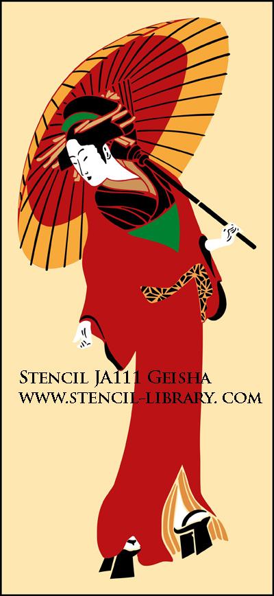Geisha stencil ja111 stencil library