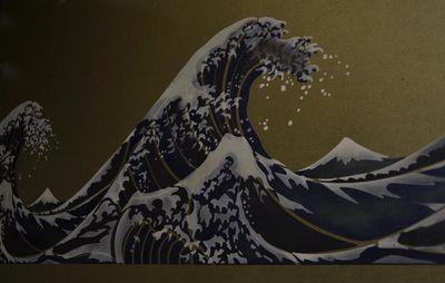 312 hokusai wave stencil 116