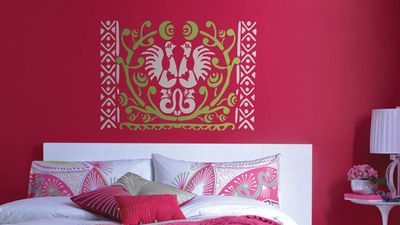 Bedroom - emmabird stencil detail