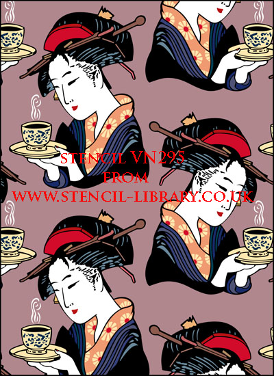 Japanese tea ceremony stencil