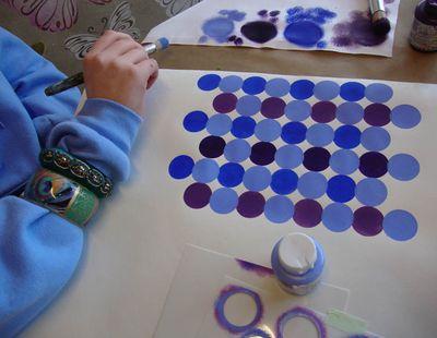 School blue stencils 17