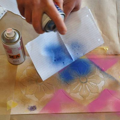 How to stencil with spray paint - Design Inspiration. Planet ...