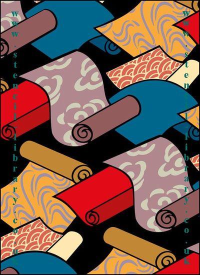 Oriental Silks stencil-library