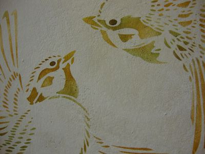 Vn sparrow bird stencil 21