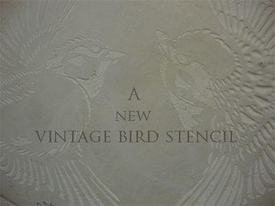 A new vintage bird stencil 11