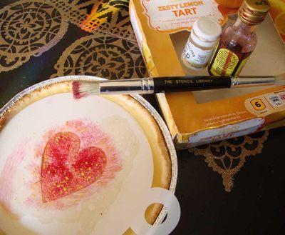 Stencilled heart tart 53