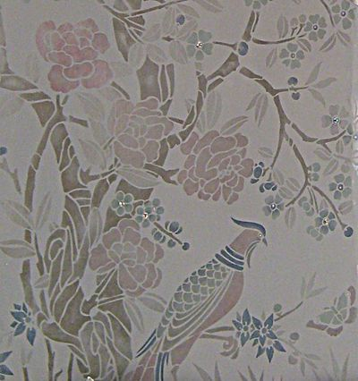 Chinoiserie stencil and crystal 52