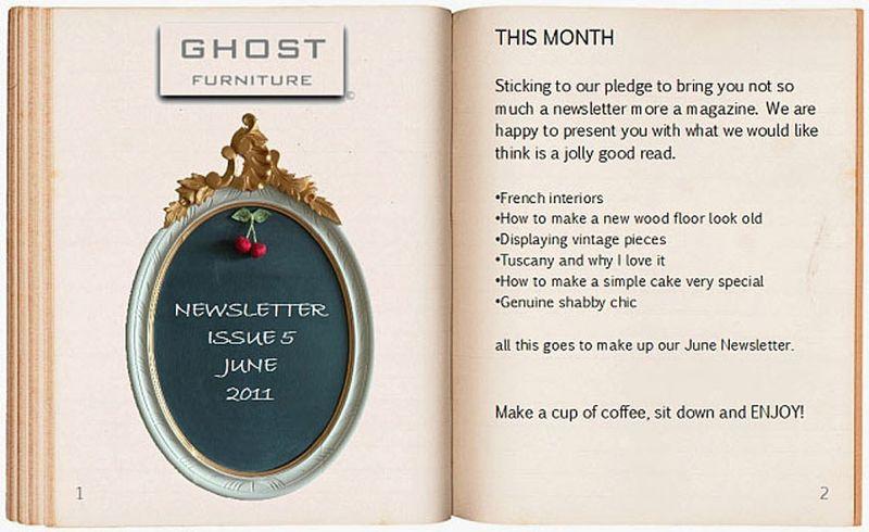 Ghost furnitureNEWSLETTER1