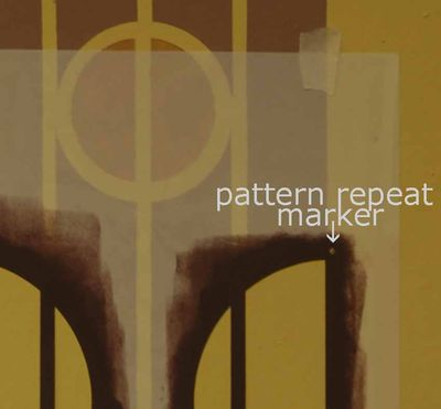 Pattern repeat marker