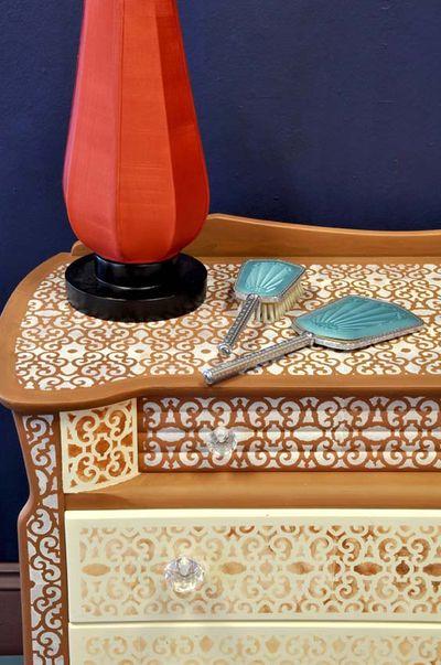 Elizabethan stenciled dresser