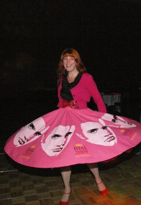 Elvis stenciled skirt helen morris