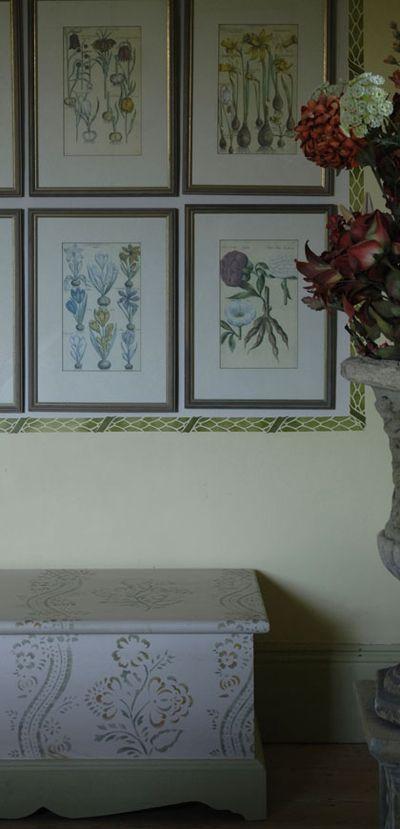 Stencilled Gustavian prints