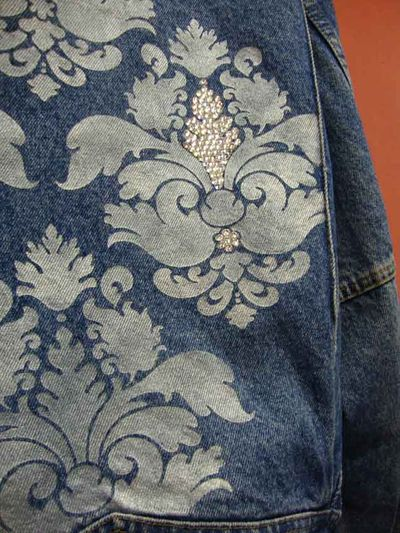 Damask stenciled jacket
