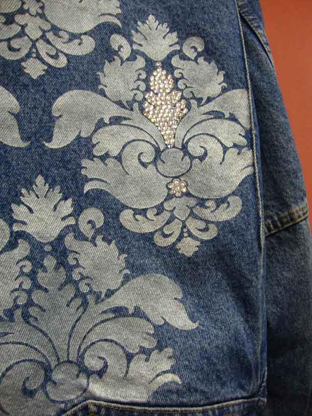 Damask stenciled jacket