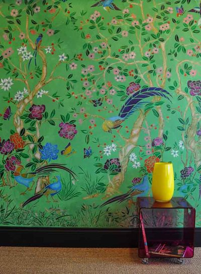 Chinoiserie wallpaper stencils 19