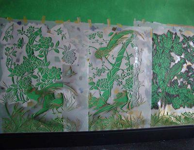 Stencils on wall 65