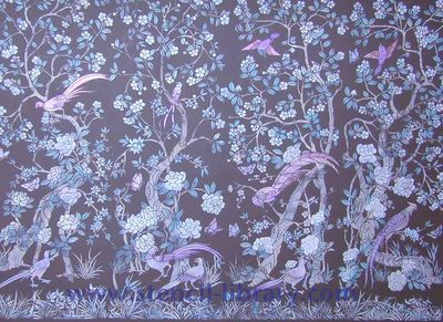 CH1-4 Chinoise panel stencils brown 204