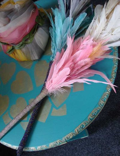 Vintage hat and feather duster43